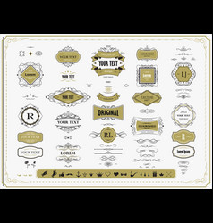 set original design elements frames borders vector image