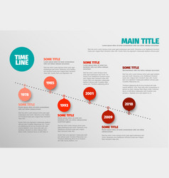 Simple timeline template vector