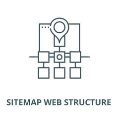 Sitemap web structure line icon linear vector