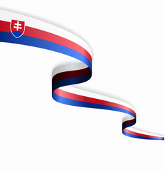 slovak flag wavy abstract background vector image