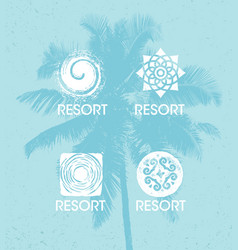 spa wellness detox retreat organic eco background vector image