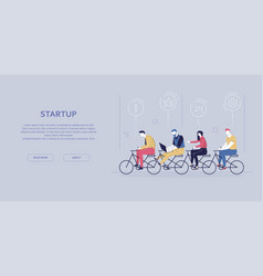 Startup - modern flat design style colorful banner vector