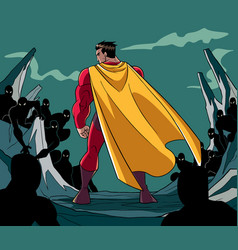 Superhero ready for battle vector