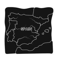 Territory of Spain icon in black style isolated on vector