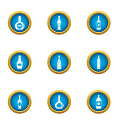 Tincture icons set flat style vector