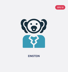Two color einstein icon from science concept vector