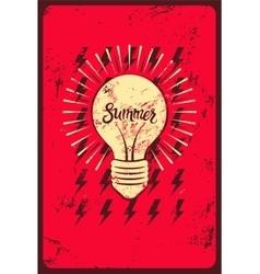 Typographic retro grunge summer poster vector image