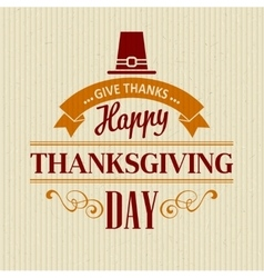 Typographic Thanksgiving Design vector image