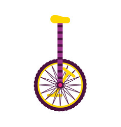 unicycle on white background vector image