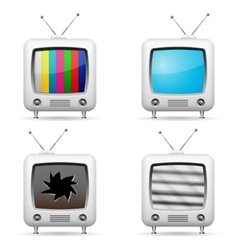Various tv icons vector image