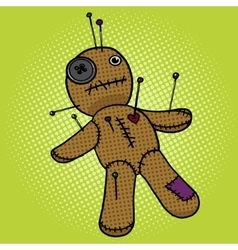 Voodoo Doll pop art style vector