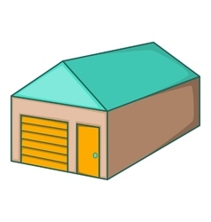 Warehouse with closed doors icon cartoon style vector image