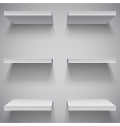 White Shelves vector image