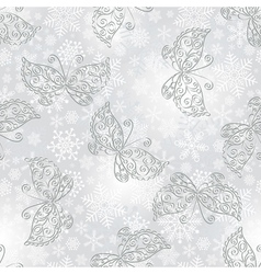 Winter seamless silvery spotty pattern vector