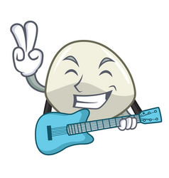 With guitar traditional italian food mozzarella vector