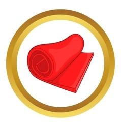 Yoga mat icon vector