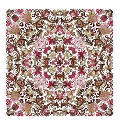 colorful ornamental floral paisley shawl bandanna vector image