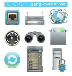 Computer icons set 5 vector