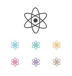 of education symbol on atom vector image