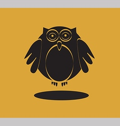 Owl icon in black color vector image vector image