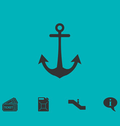anchor icon flat vector image vector image