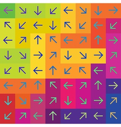 arrows on colorful rectangles vector image vector image