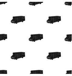 campervan icon in black style isolated on white vector image