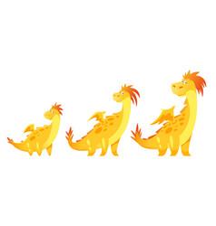 cute yellow dragon vector image vector image