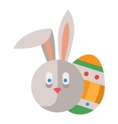 Easter rabbit bunny head vector image