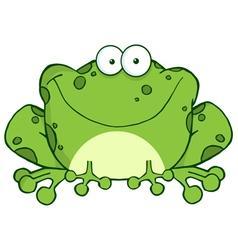 Happy Frog Cartoon Character vector image vector image