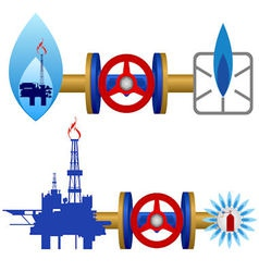 Natural gas industry vector image vector image