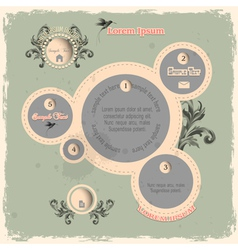 Web design bubbles in vintage style vector image