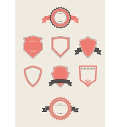 Blank Badges and Shields vector image