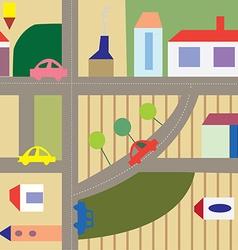 Cartoon city seamless plan - funny design vector image