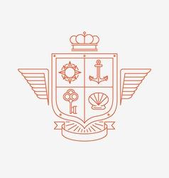 linear heraldry symbols vector image vector image