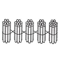 5 bundles of ten sticks vintage vector image