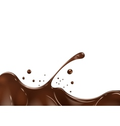 Chocolate splash on white background vector image vector image