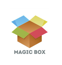 download icon open box vector image