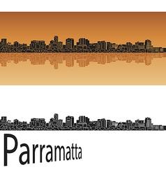 Parramatta skyline in orange vector image vector image