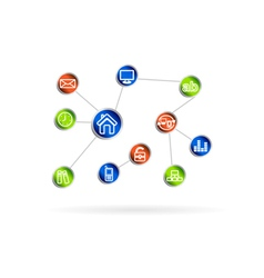 Social media communication in the computer vector image