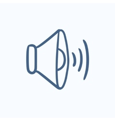 Speaker volume sketch icon vector image