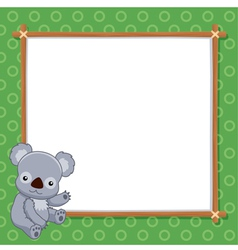 A Koala with white blank vector