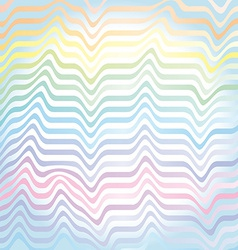 abstract rainbow waves pastel background vector image