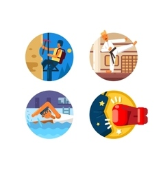 Active sports icons vector image