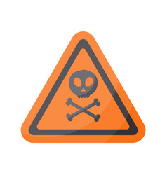 aware sign flat icon vector image