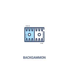 Backgammon concept 2 colored icon simple line vector