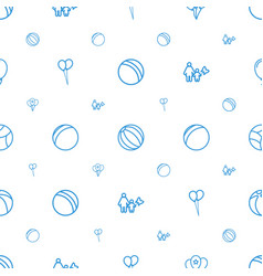 Balloon icons pattern seamless white background vector