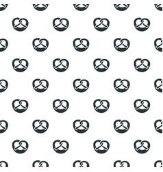 Bavarian pretzel pattern seamless vector