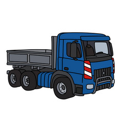 Blue lorry truck vector