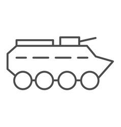 Btr thin line icon amphibious vehicle vector